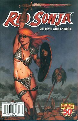 RED SONJA #50 (Dynamite 2010) RARE LINSNER COVER (VF-) New stories & reprints