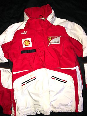 Ferrari Team Issue Jacket Scuderia Ferrari Vettel Raikkonen Team Only Coat Rare!