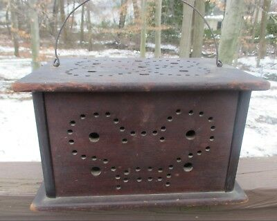 Antique BUGGY FOOT WARMER Hand Made RARE Solid Wood w/ Sliding Wood Door PA MADE
