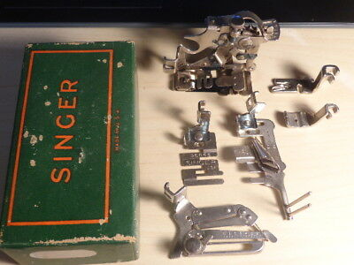 Vintage Singer Sewing Machine Attachments- Edge Stitcher Binder Ruffler Hemmer!!