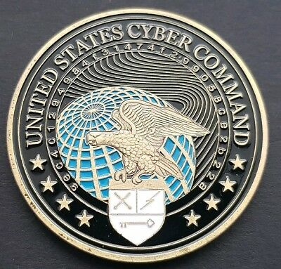 US CYBER COMMAND 50mm Challenge Coin FREE COIN STAND AND BRAND NEW FITTED COIN C