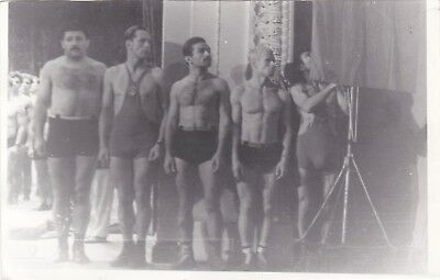 1970s Handsome nude muscle men athletes wrestlers Soviet Russian photo gay int