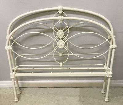 ORNATE VICTORIAN IRON 4ft BED c1900