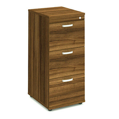 Trexus Wooden Filing Cabinet 500mm 3 Drawers Walnut - I000133
