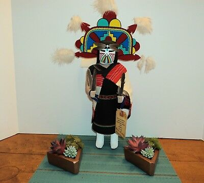 """Vintage Hopi """"Butterfly Maiden"""" Kachina ~ 17"""" Tall w/Tag"""
