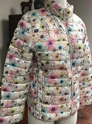 Zara Girls Floral Light Weight Puffer Winter Jacket 13/14