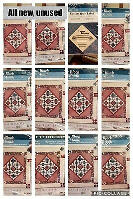 Vintage Treasures Quilt Block Kits Jo ann Fabrics 10 monthly blocks & sewing kit