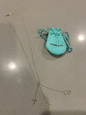 "Tiffany & Co. Sterling Silver .925 T & Co. Lariat Necklace 17"" Nice!"