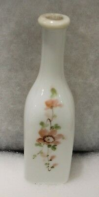 Antique Milk Glass Hand Painted Barber Bottle