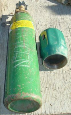 Oxygen Tank/Cylinder*US Army*Special Size*Out of TEST*USED*FREE Shipping