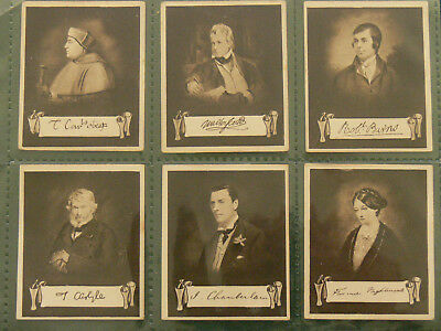 A 1923 set of Celebrities & their Autographs Cigarette cards.