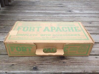 Vintage 1958 Marx Canadian Fort Apache Play Set 3634C Rare Toy
