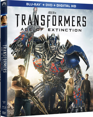Transformers: Age of Extinction (Blu-ray/DVD, 2014,2-Disc Set,Includes Slipcover
