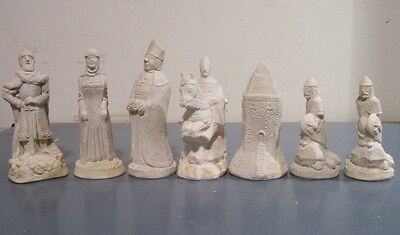 The Normans chess set latex moulds