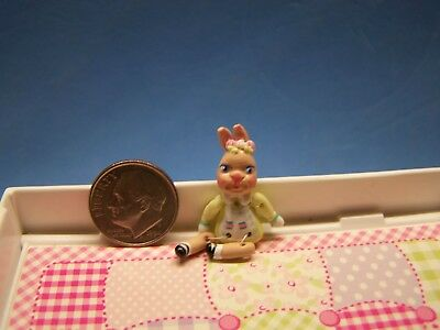 1:12 Scale Dollhouse, Little Bunny Girl Doll, About 1 3/8 Inch Tall