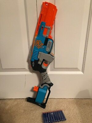 NERF Zombie Strike SledgeFire Foam Dart Blaster with 1 Ammo Shell and 10 Darts