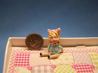 1:12 Scale Dollhouse, Little Girl Doll, About 1 3/8 Inch Tall