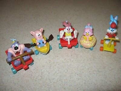 Lot of Tiny Toons Tunes 1990 Rollers TAZ Porky Babs Buster Dizzy pig Applause