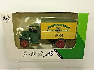 "ERTL,1926 Deere Implement Co.Mack ""Bulldog"" Delivery Truck Coin Bank, LE, NIB"