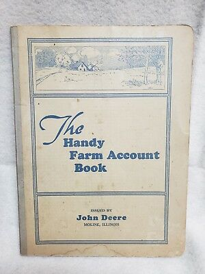 Antique Booklet The Handy Farm Account Book Issued by John Deere 1930's
