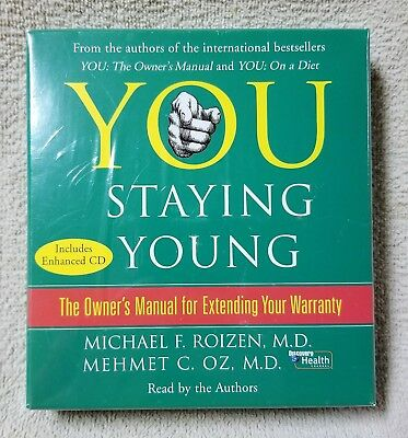 YOU - STAYING YOUNG 5-disc CD Audio Book Michael Roizen & Mehmet Oz NEW Sealed