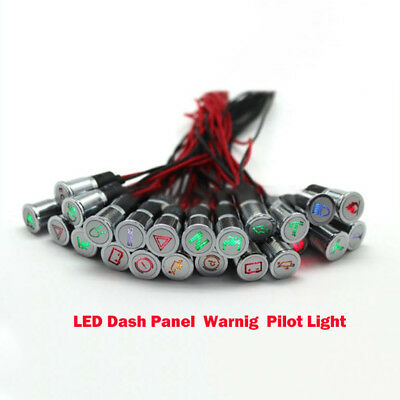 8mm LED Indicator Warning Light Lamp Pilot Panel Dash Car Boat Truck Motorcycle