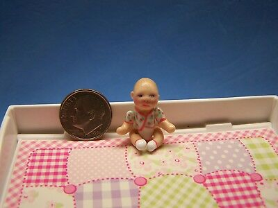 1:12 Scale Dollhouse, Baby Dear Doll, About 1 1/8 Inch Tall