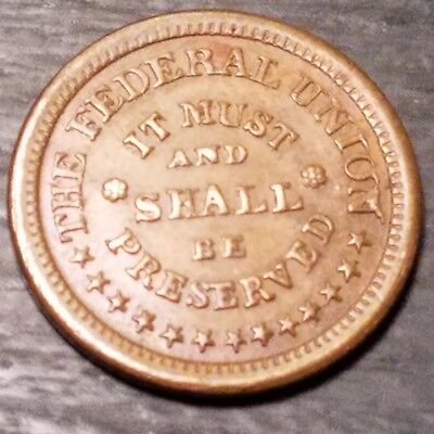 Non Dug Civil War Token Coin