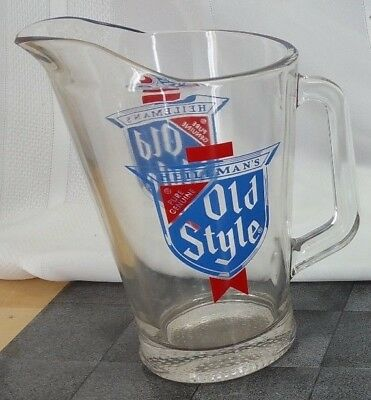 VINTAGE HEILEMAN'S OLD STYLE BEER HEAVY GLASS PITCHER (1)pc.