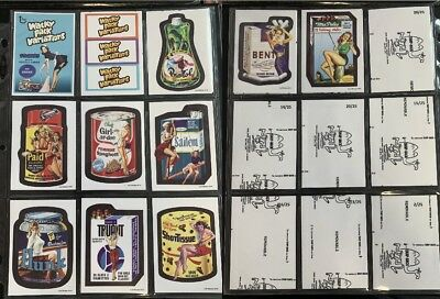 Lost Wacky Packages VARIATIONS 4th Series Complete BLACK LUDLOW SET + Wrappers