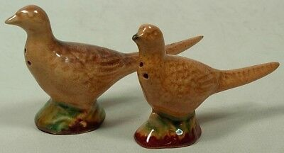 Rosemeade North Dakota Pottery 2 Pheasant Shakers