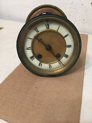 Antique Hamburg American Mantle Clock Movement French Style Bezel Hands Dial