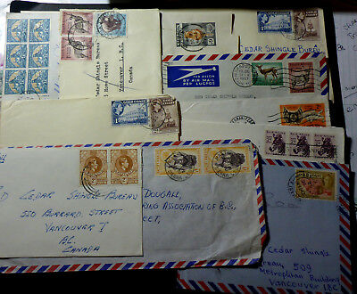 11 African Covers Gold Coast/nigeria/sierra Leona/south Africa Various Rates Br.