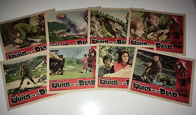 QUICK & THE DEAD Movie Lobby Card Posters Set World War II WW 2 US Army Italy
