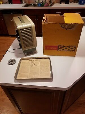 Vintage Kodak Brownie 500 Model C 8Mm Movie Projector W/original Box