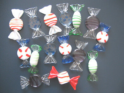 15 x VINTAGE Retro Italian Murano Style Glass Lollies Sweets Candy