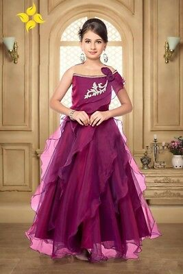Indian Traditional Kids Wear Girls Dress Frock Designer Gown For