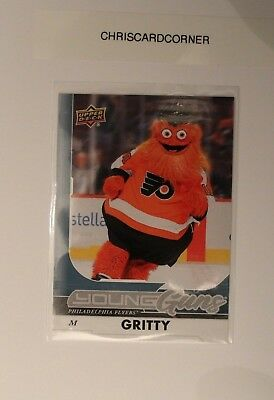 2017-18 Young Guns GRITTY Philadelphia Flyers Mascot Rookie Card