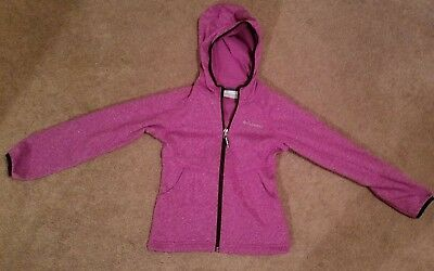 girl's purple Columbia zip up hoodie size small 7/8