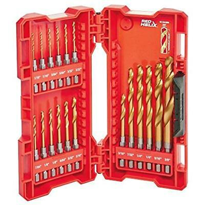 48-89-4680 18-Piece Shockwave Impact Duty Thunderbolt Titanium Drill Bit Set W/