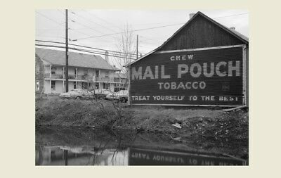 Mail Pouch Tobacco Barn PHOTO, 1970s Sign, Pennsylvania, Vintage Advertisement