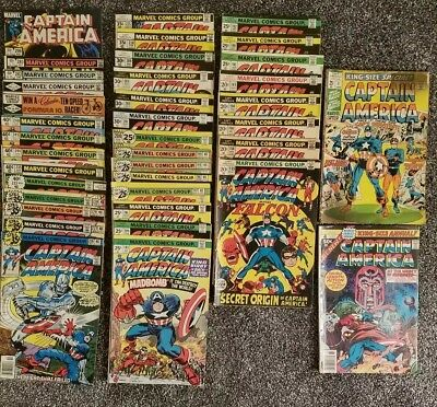 Captain America Comic book Lot 38 COMIC BOOKS!! starts at #155-296 mixed issues