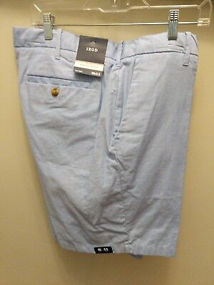 "IZOD Mens Newport Oxford Cotton Shorts Blue Revival 40 NEW NWT 9.5"" Inseam 40W"