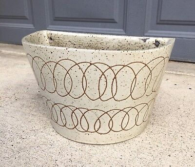 David Cressey Sgraffito Wall Planter Architectural Pottery Mid Century Modern
