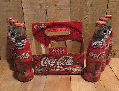 2006 Coca-Cola Coke Bottles Set of 6 Unopened 2006 Final Four Ind. and Boston