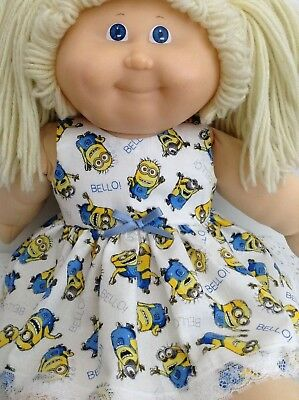 Handmade Dolls clothes ~ 43cm Baby Born ~ Cabbage Patch Kid Doll ~ Minions Dress
