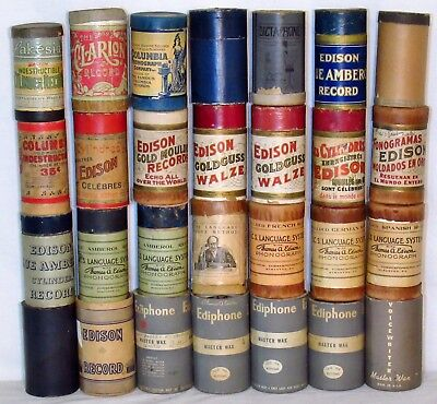 28 Antique Cylinder Records - Language French Spanish German - Variety of Music
