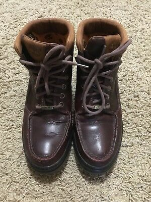 ace554fa2c705 Timberland Women Size 8 1 2 Chocolate Brown Leather Hiking Boots. Gortex  lined.