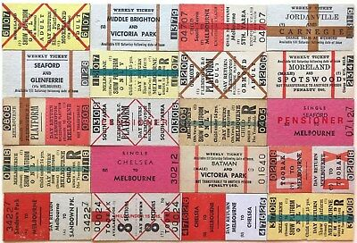 VR Tickets - 20 x mixed Melbourne Suburban tickets (set 72)