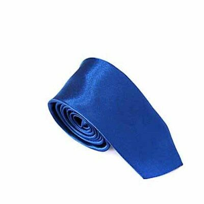 RoyalBlue Classic solid color Tie Slim Neckties for Wedding Party Office Gift